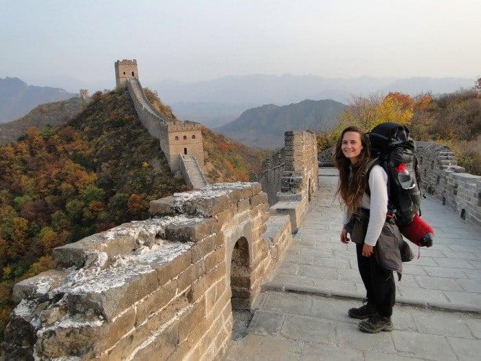 Virginie sur la Grande Muraille de Chine