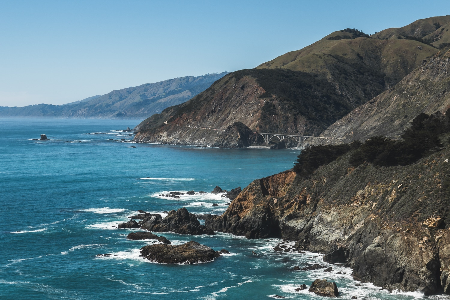 highway 1, road trip californie, pfeiffer beach, ocean pacifique