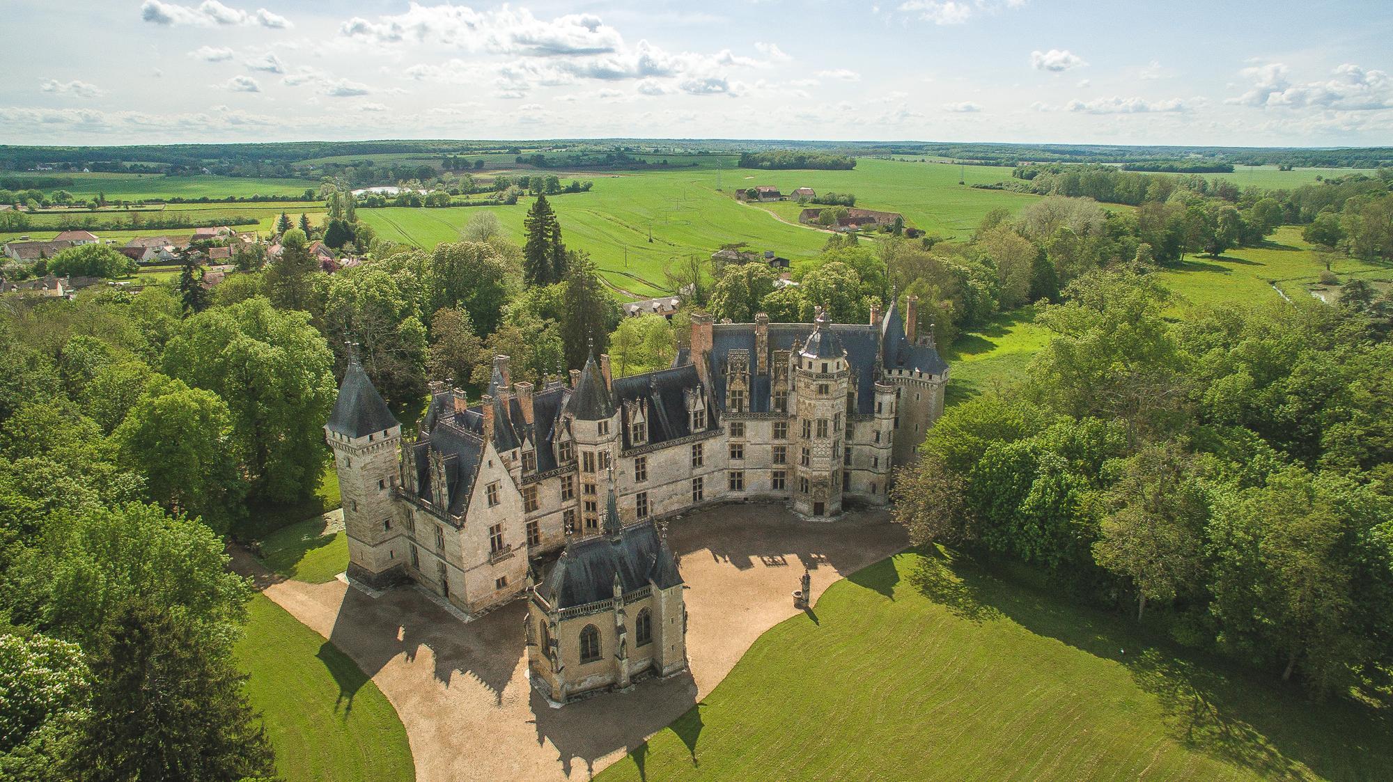 chateau de meillant, le berry, france, patrimoine